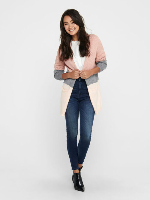 Only Queen Long Cardigan Misty Rose