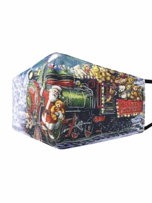 Classic Mask Mundbind Christmas Train