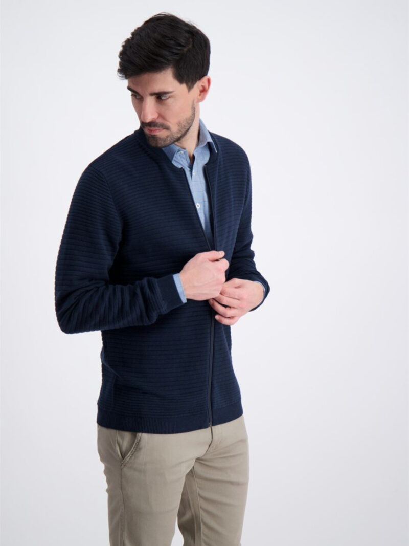 Jack's Sportswear Intl. Cardigan 3-82220 Navy