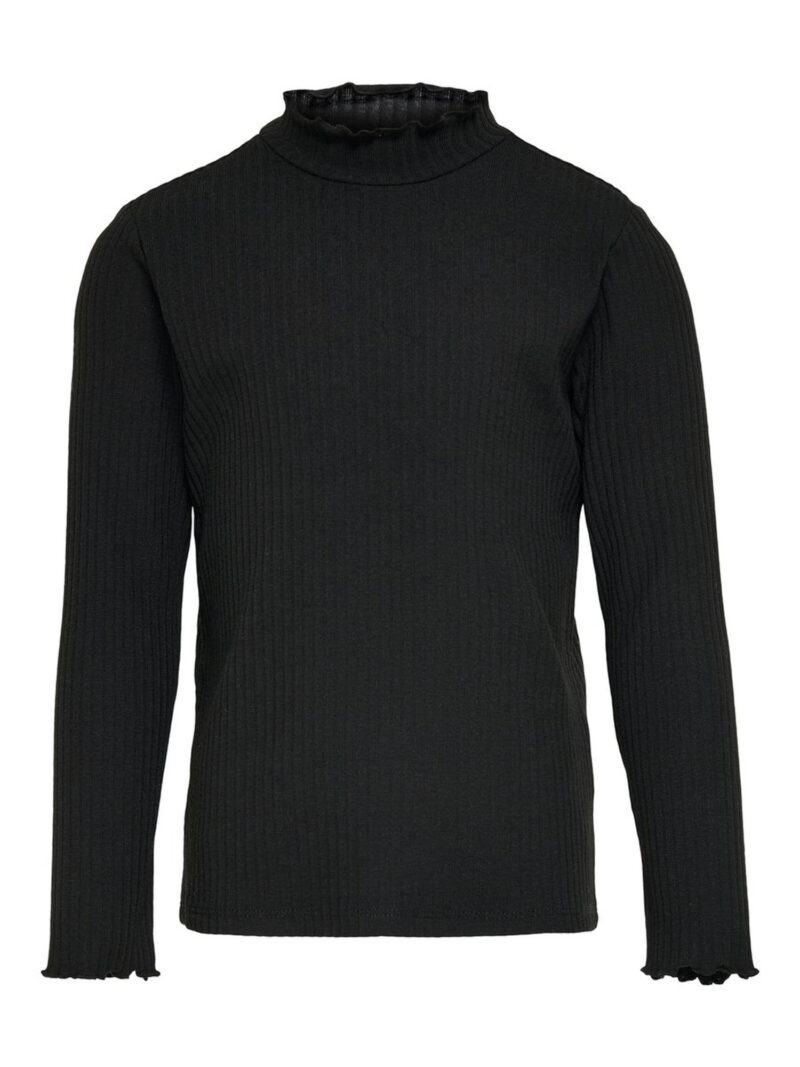 Kids Only Nella L/S High Neck Top Black