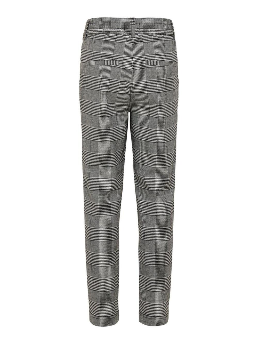 Kids Only Poptrash Soft Check Pant Medium Grey
