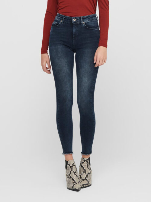Only Blush Life Ankle Skinny Jeans Blue Black Denim