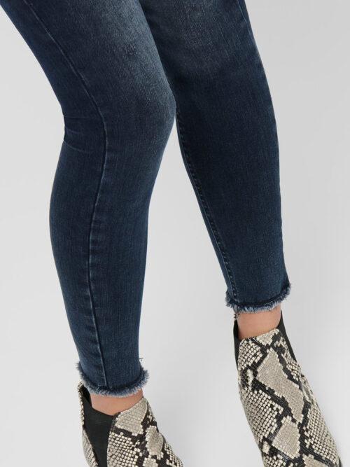 Only Blush Life Ankle Skinny Jeans Blue Black Denim