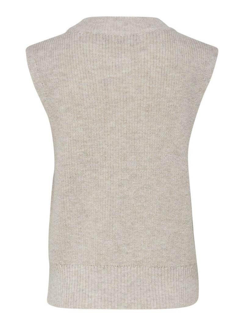 Only Paris Life Vest Knit Pumice Stone