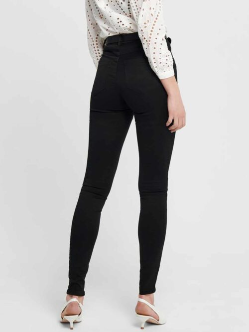 Only Royal Life High Skinny Jeans Black