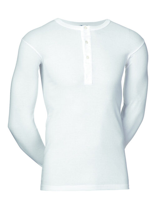 JBS Original T-shirt Lange Ærmer Knapper Hvid
