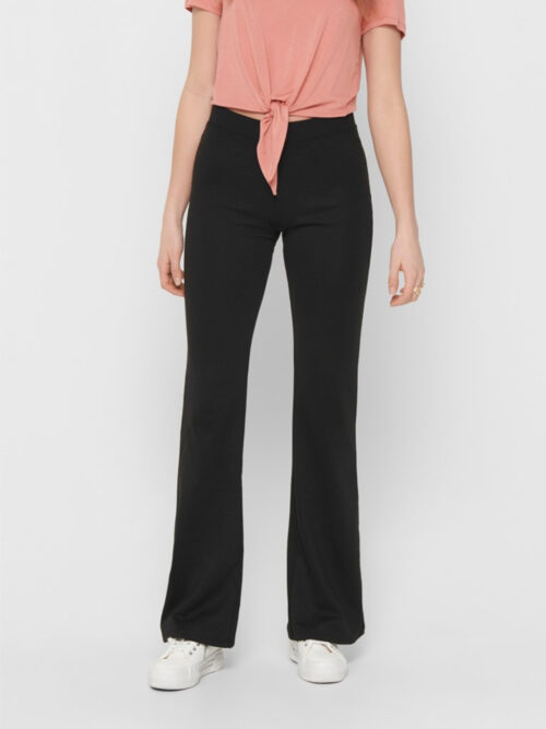 Only FEVER STRETCH FLAIRED PANTS Black