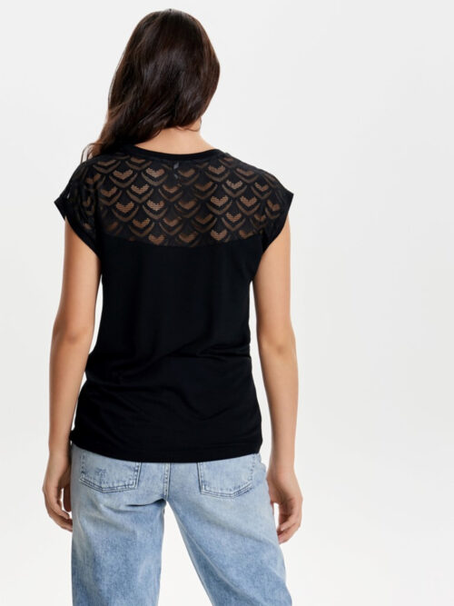 Only Nicole Life Mix Top Black