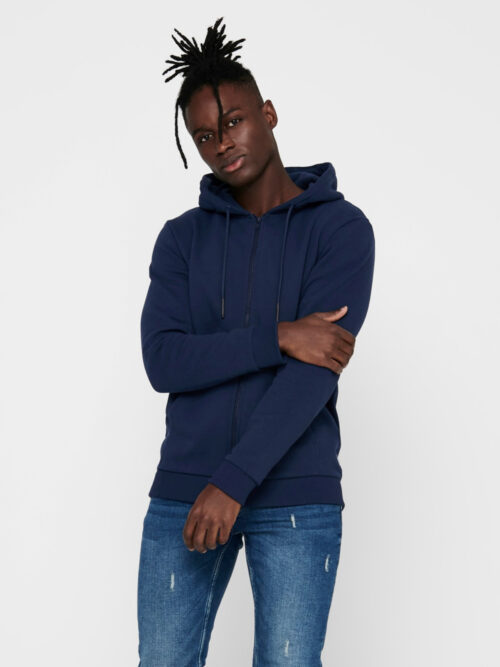 Only & Sons Ceres Life Zip Hoodie Sweat Dress Blues