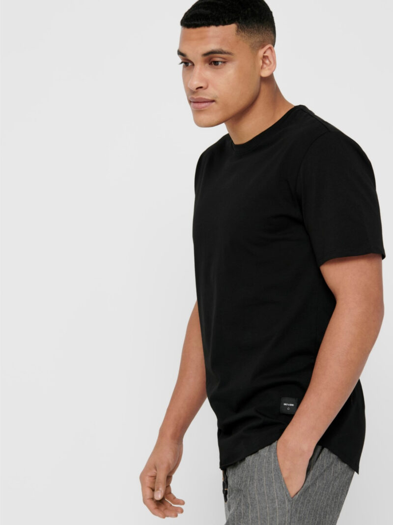 Only & Sons Matt Life Longy SS Tee Black