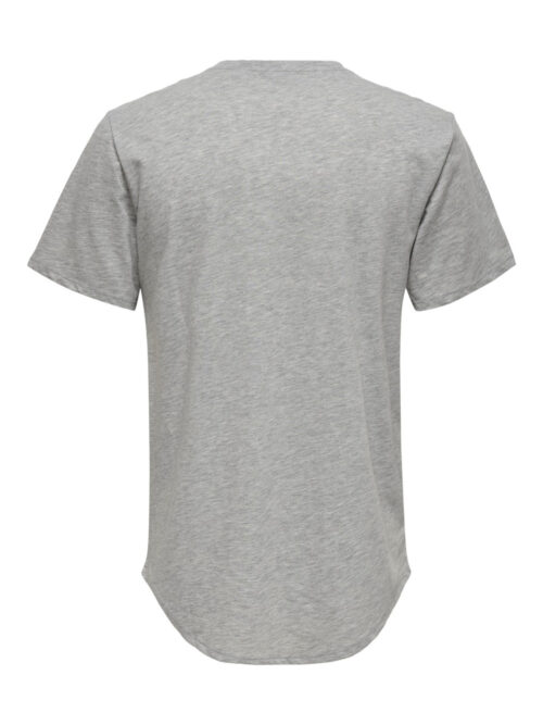 Only & Sons Matt Life Longy SS Tee Light Grey Melange
