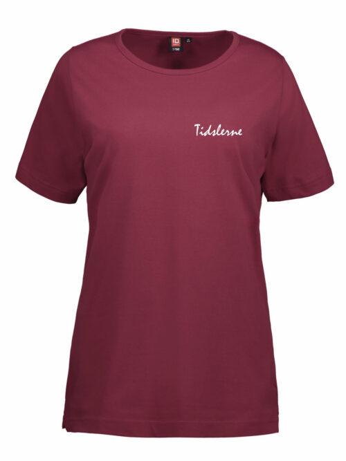 Tidslerne Dame T-shirt Bordeaux