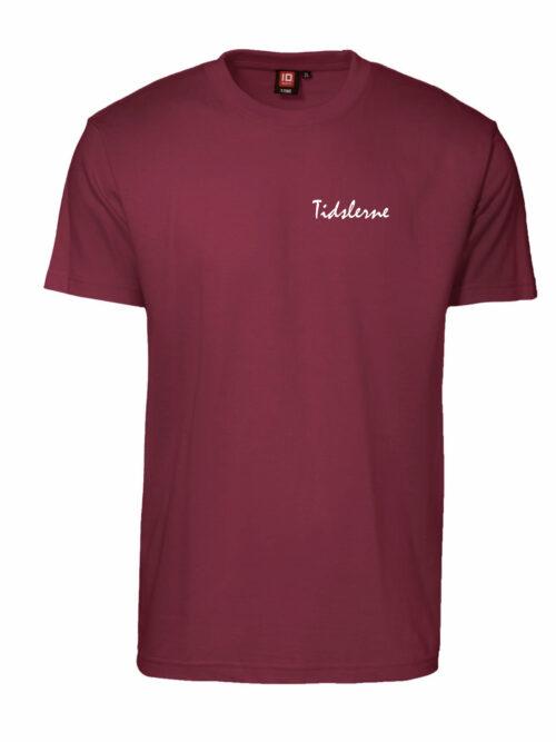 Tidslerne Herre T-shirt Bordeaux