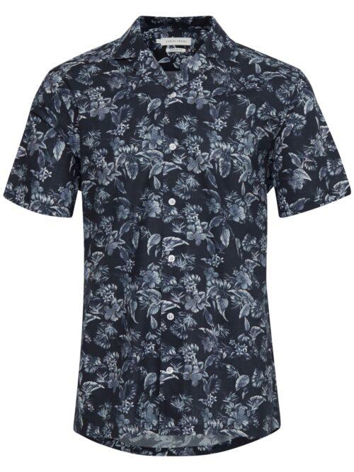 Casual Friday Anton CC Flower Printed Cuba Skjorte Navy Blazer