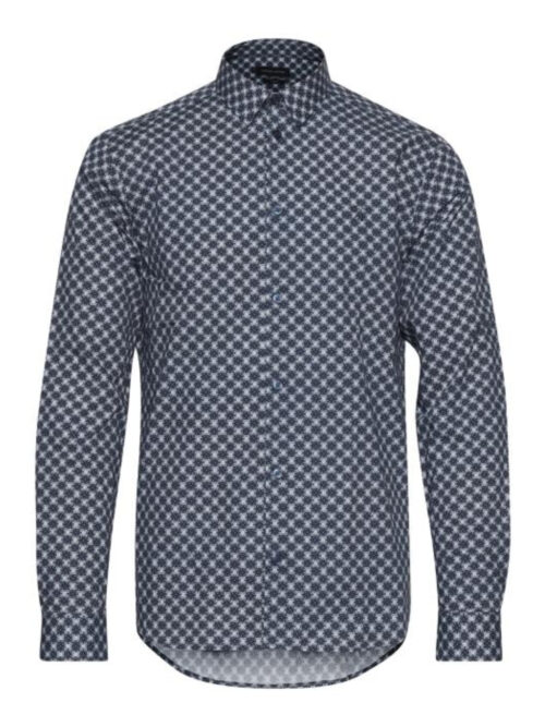 Casual Friday Arthur BU Flower Print Skjorte Navy Blazer