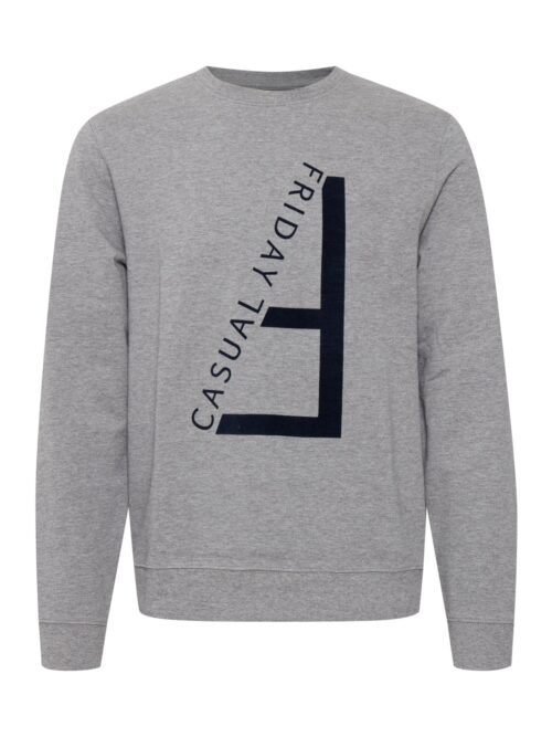 Casual Friday Sebastian Flock Print Sweat Grey
