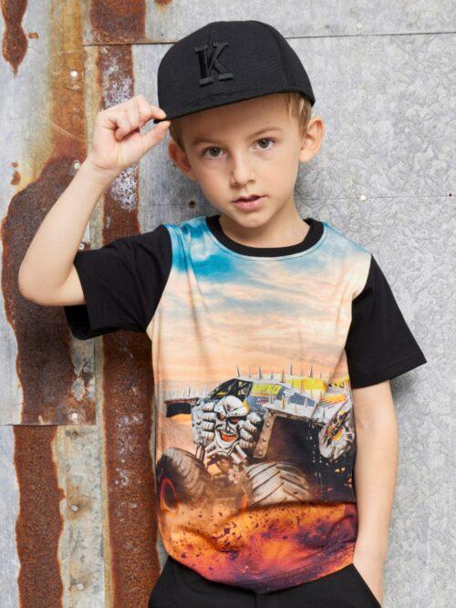 Kids Up T-shirt Monstertruck Sort