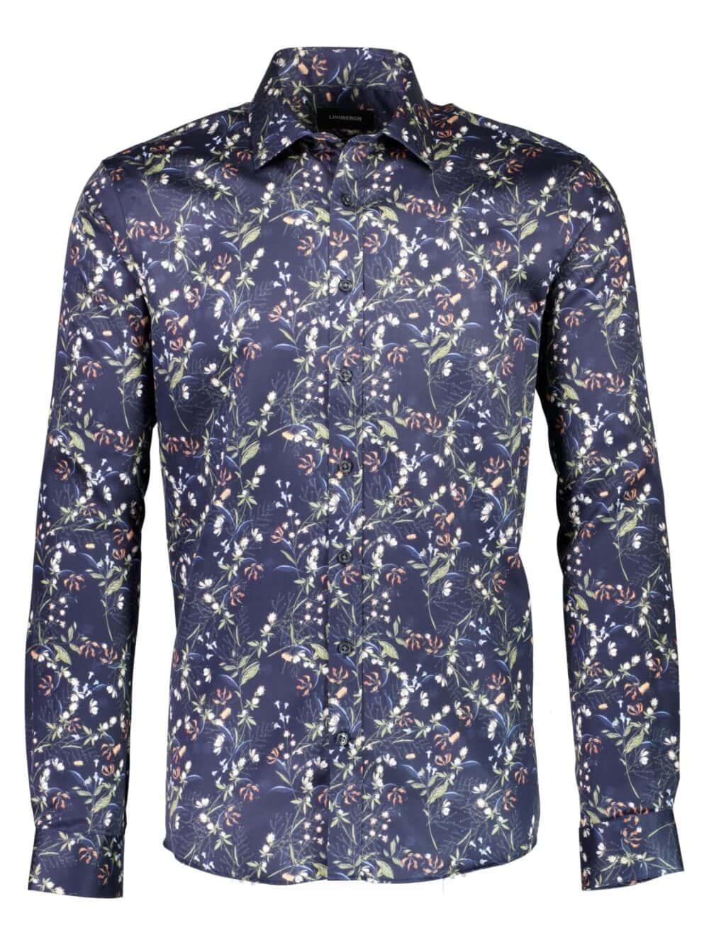 Lindbergh Black Technical Skjorte Dark Blue