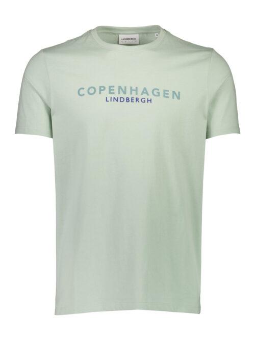 Lindbergh White Copenhagen T-shirt Mid Aqua