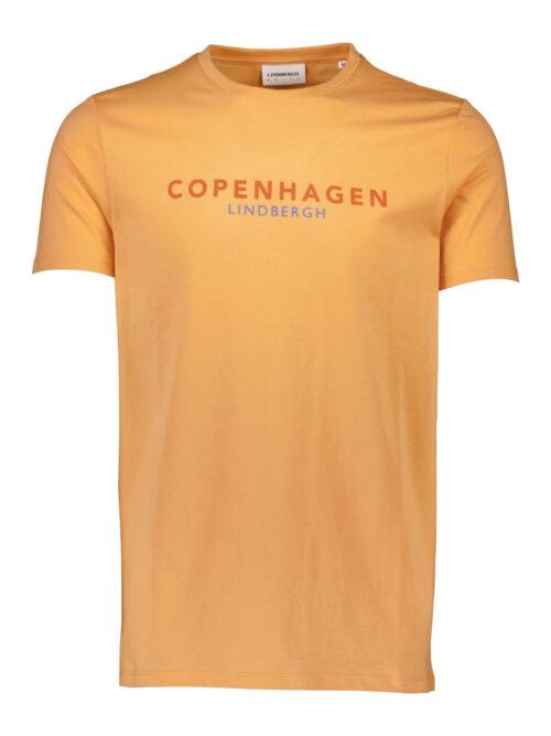 Lindbergh White Copenhagen T-shirt Orange