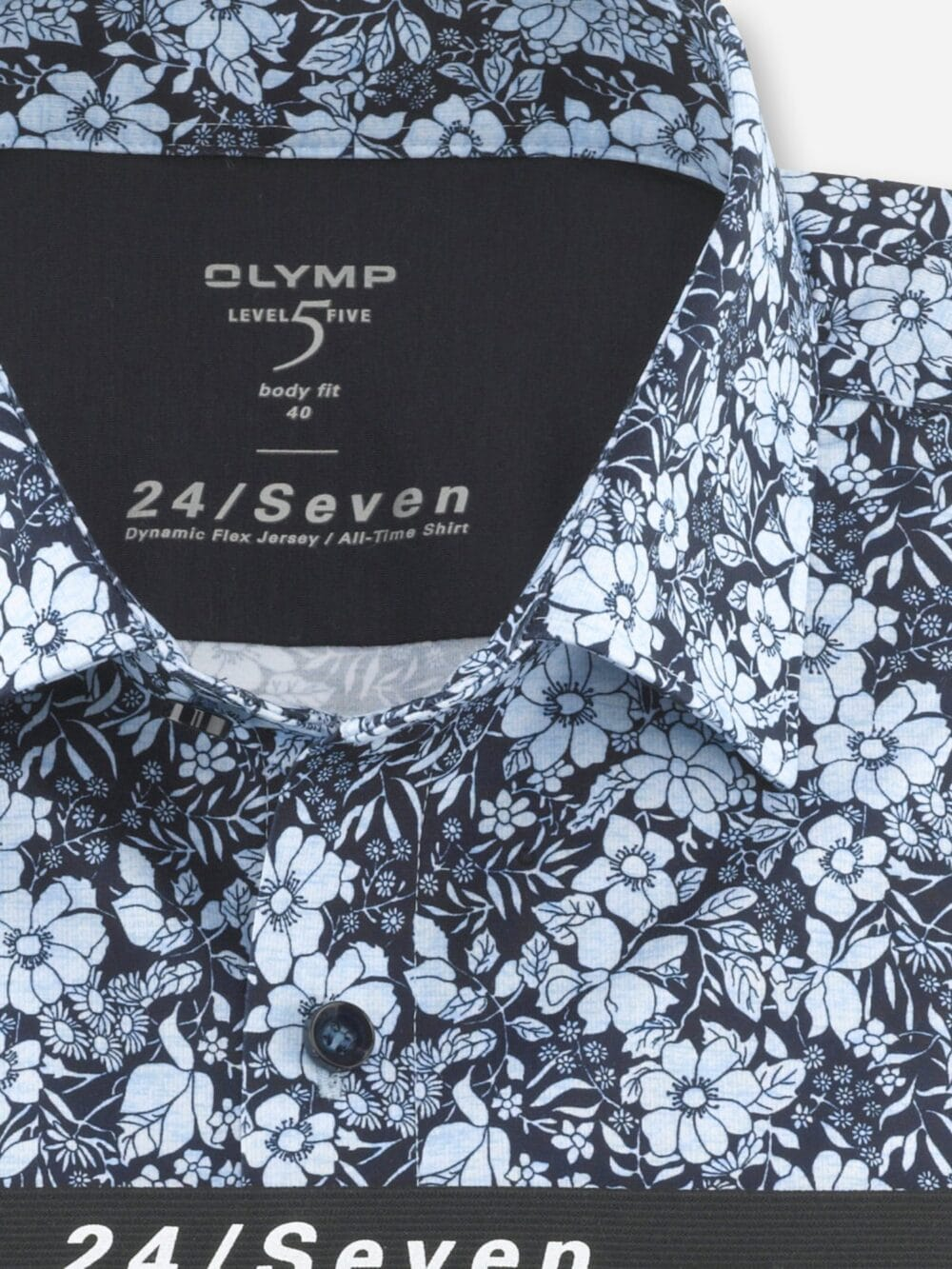 OLYMP Level Five 24/Seven Flex Jersey Skjorte 2032-74-11 Blå