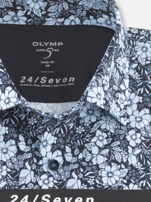 OLYMP Level Five 24/Seven Flex Jersey Skjorte 2032-74-11 Blå