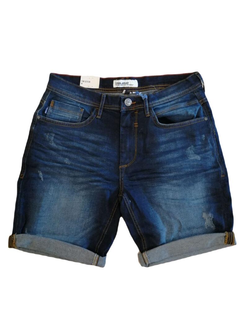 Blend Denim Shorts 20711771 Denim Dark Blue