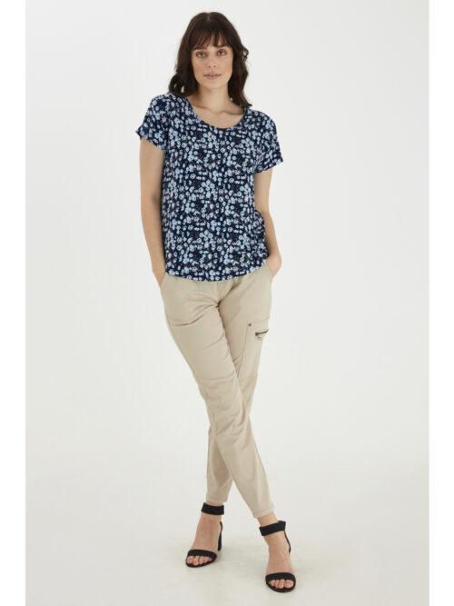 Fransa FRVEDOT 1 T-Shirt Navy Blazer Mix