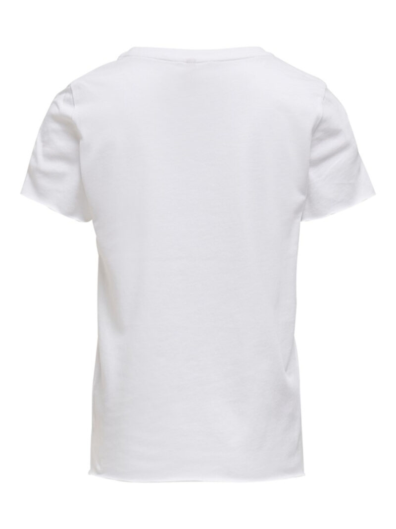 Kids Only Konliva Life T-shirt Bright White Peach