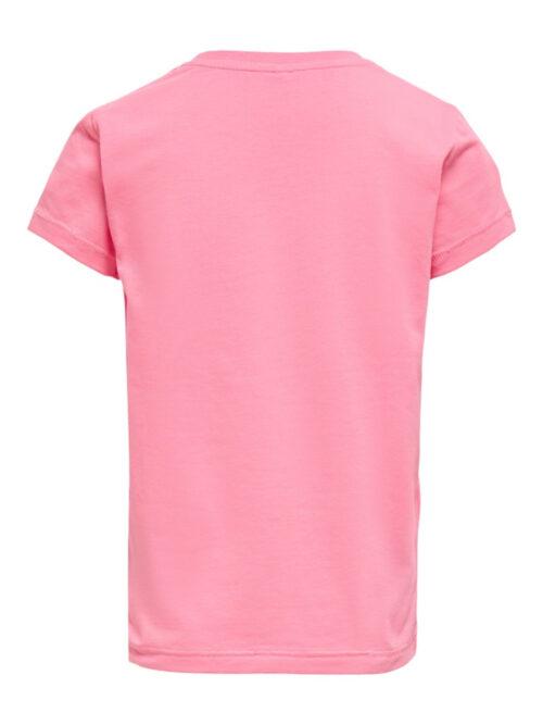 Kids Only Konlux Life T-shirt Strawberry Pink