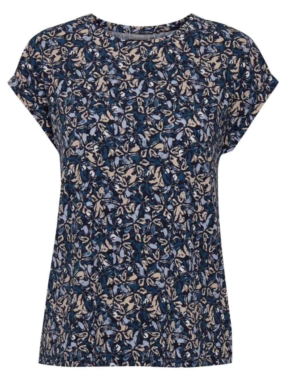 Fransa FRPESEEN 1 T-shirt Navy Blazer Mix