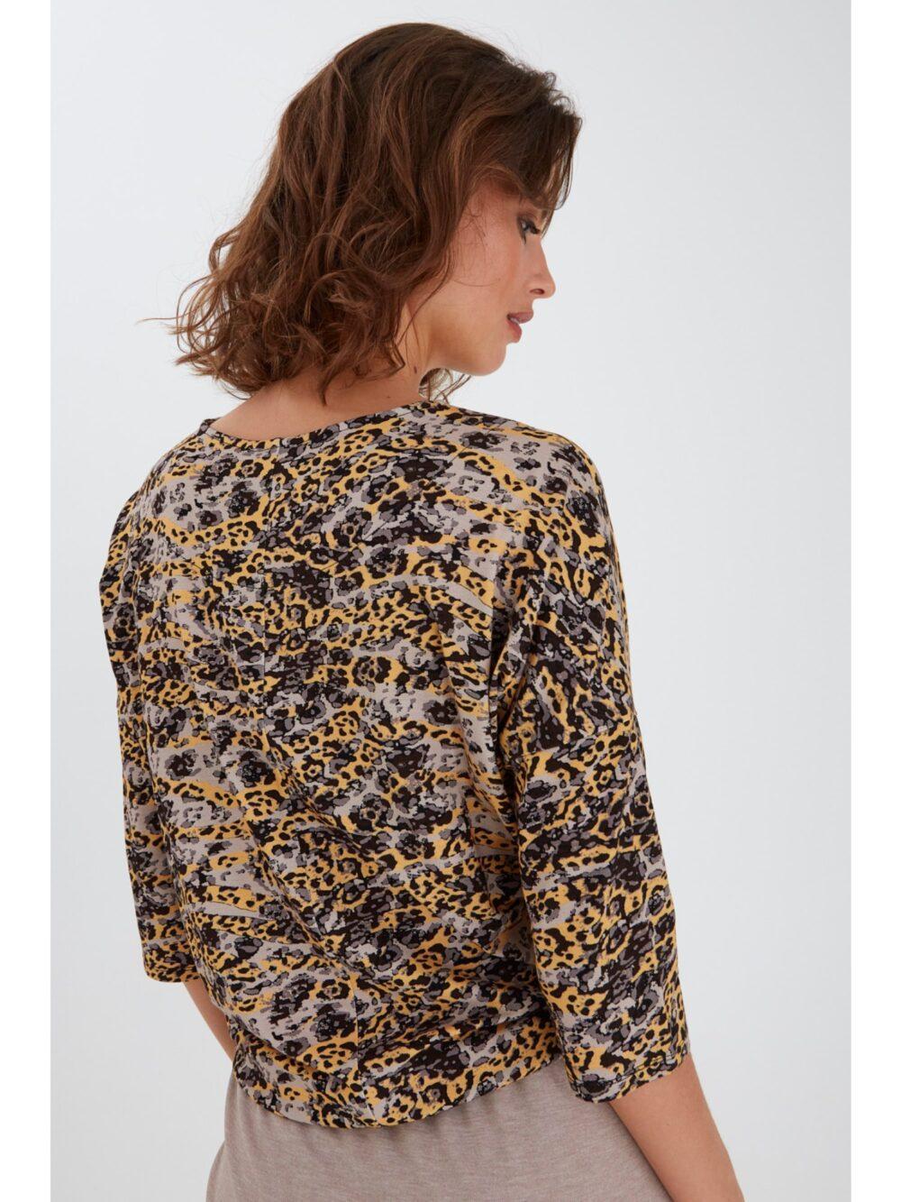 Fransa FRPETRIBE 2 T-shirt Yellow Animal Mix