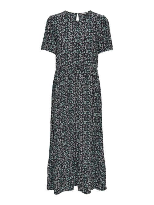 Only ONLAMALIE SS Midi Dress Black Small Floral