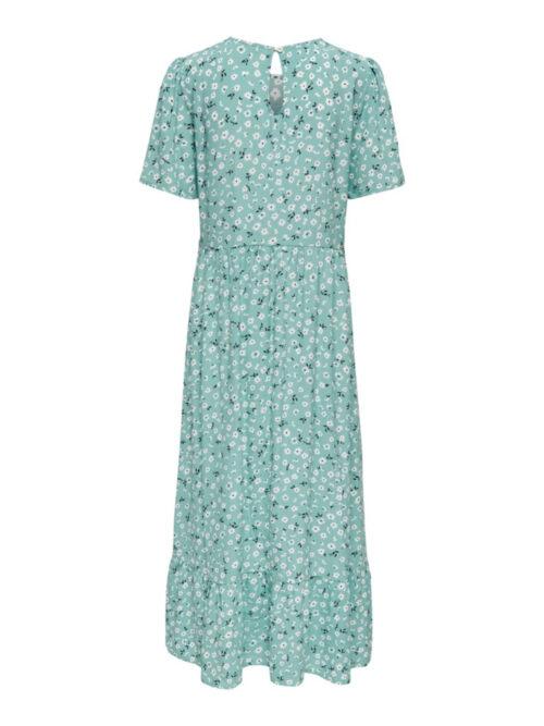 Only ONLAMALIE SS Midi Dress Dusty Turquoise