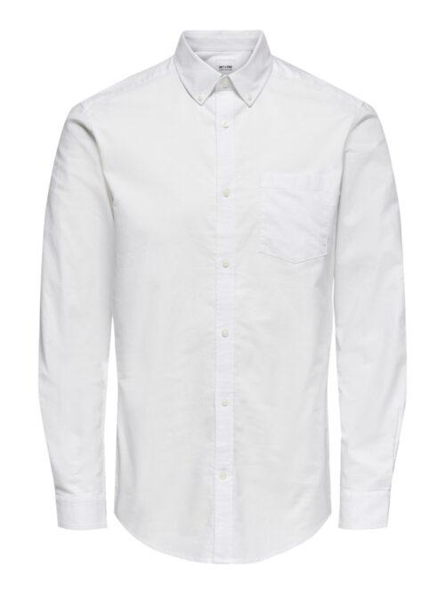 Only & Sons Onsneil Life LS Oxford Skjorte White