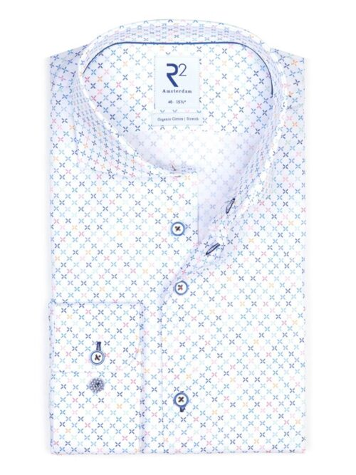 R2 Amsterdam Skjorte White Mini Dessin