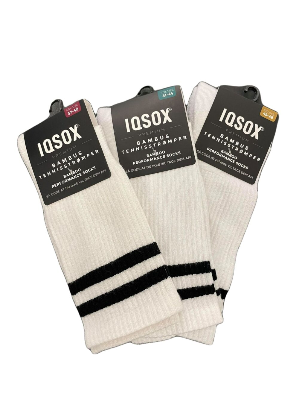 IQ SOX Bambus Tennisstrømpe Hvid