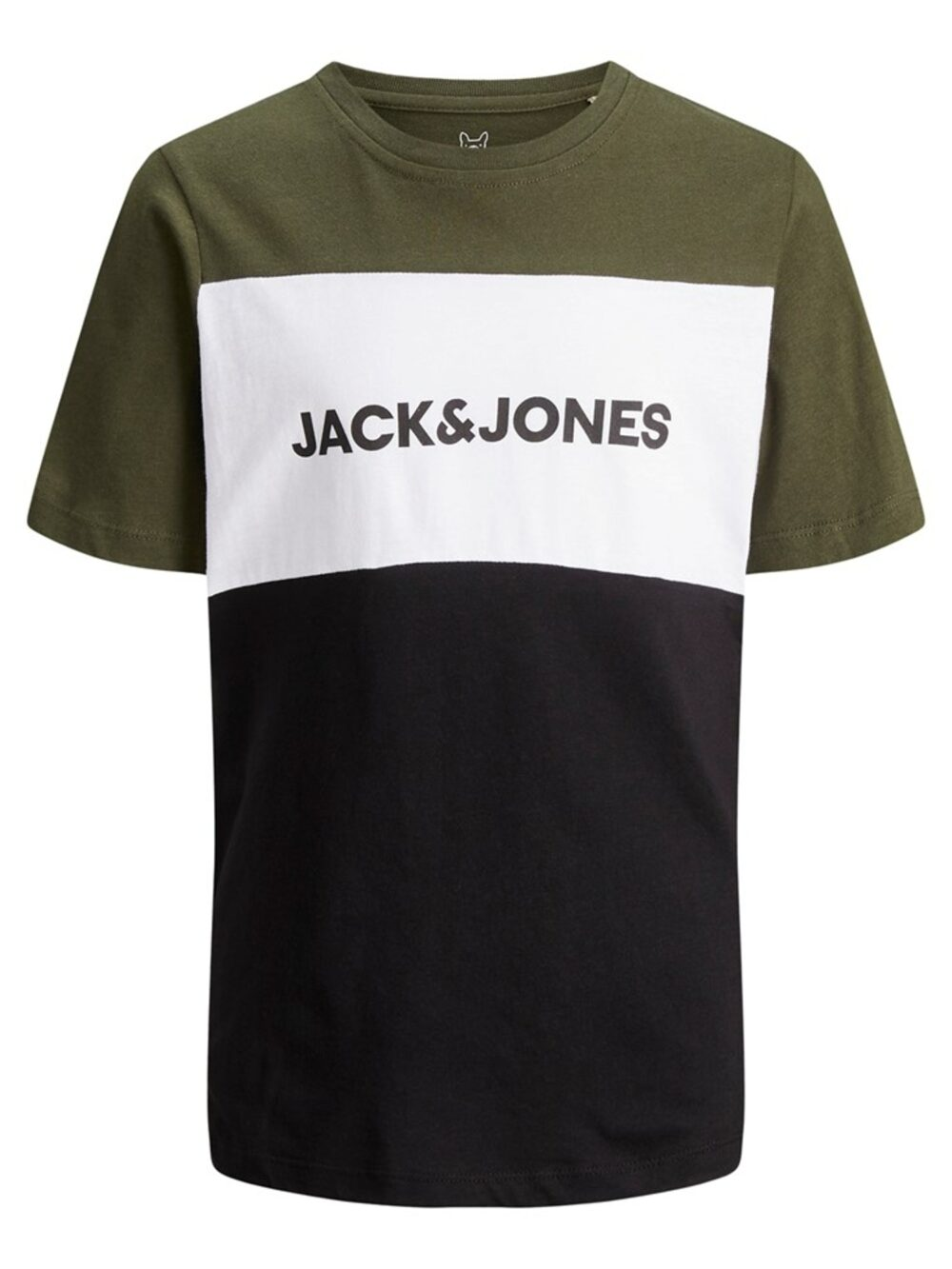 Jack & Jones Junior Logo Blocking Tee Grøn